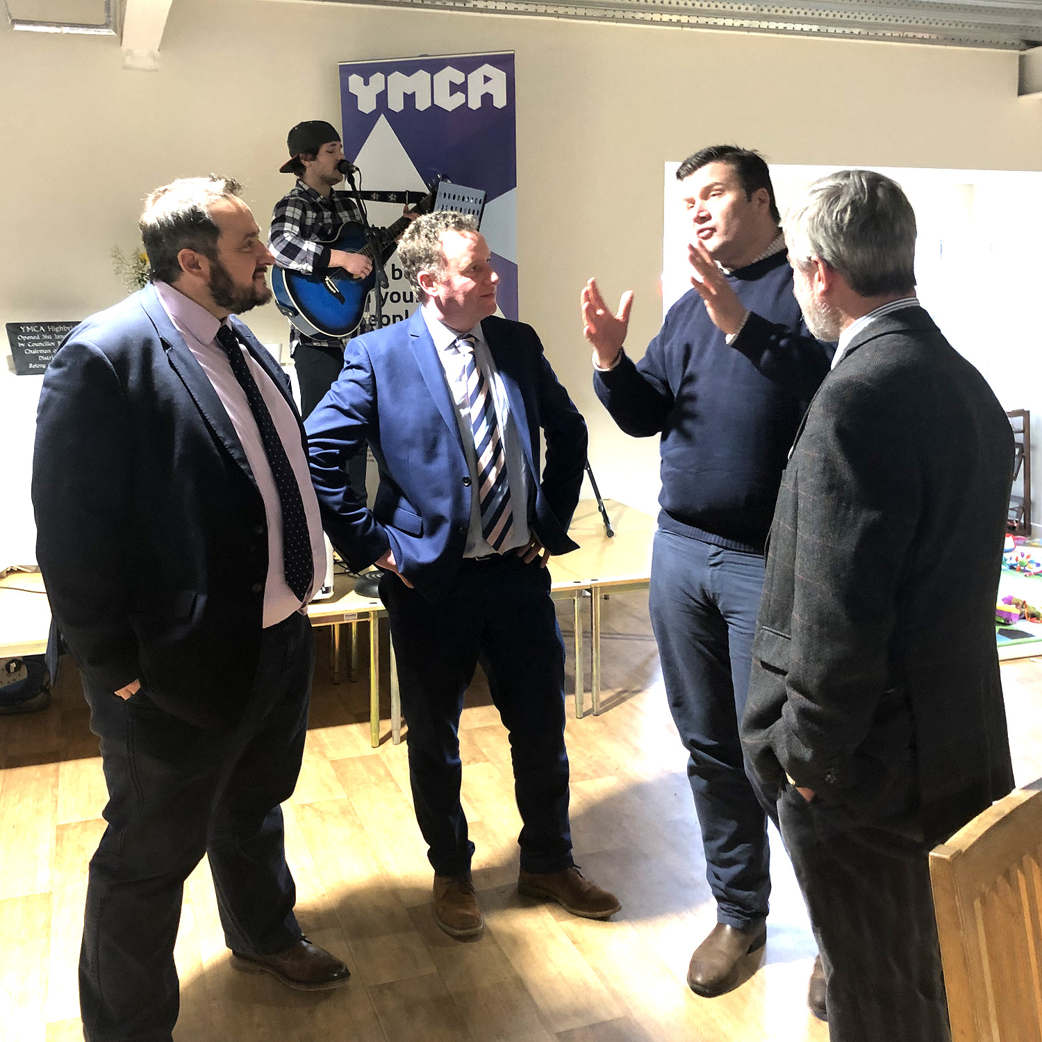 Rupert Perkins attends the official opening of YMCA Highbridge